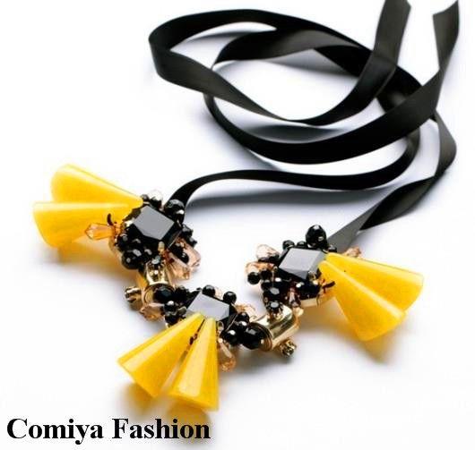 Новый летний бренд Богемия регулируемая лента неоновые желтые цветы кулон моды ожерелья для женщин 2014 бижутерия AliExpress 468,85
