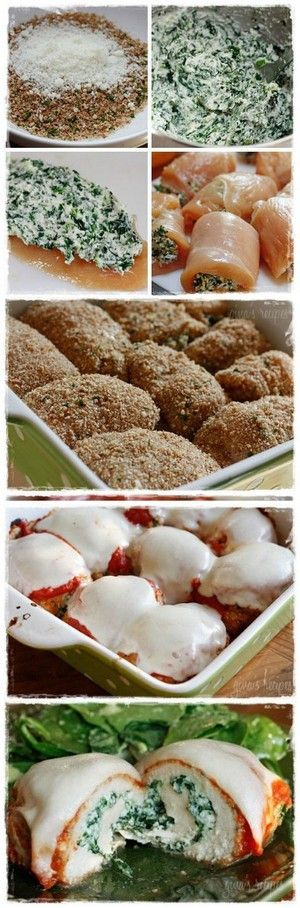 Chicken Rollatini with Spinach alla Parmigiana | Bake a Bite