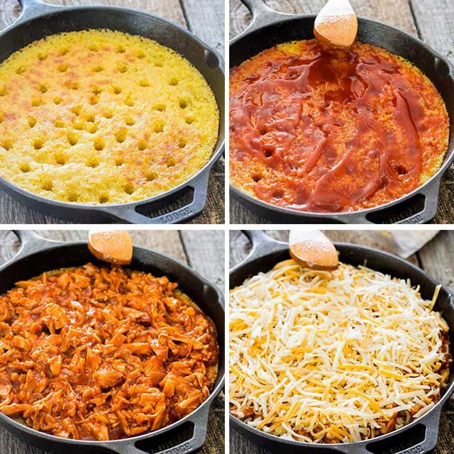 Chicken Tamales Recipe: Chicken Tamale Casserole In A Skillet Made From Scratch