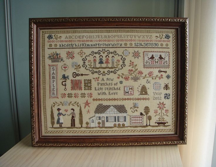 Koala's place - CrossStitch&Patchwork & Embroidery: Patches of Life Sampler (L'Atelier Perdu) - framed