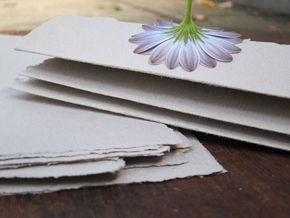 Stationery set Letter writing paper Handmade Recycled paper