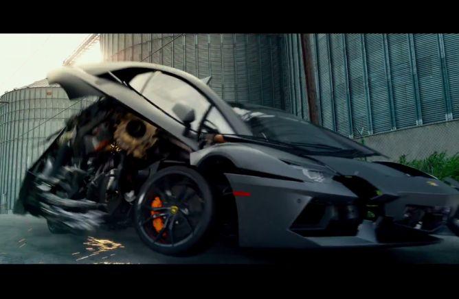 Lamborghini aventador lp coupe transforming