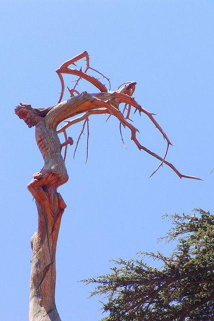 Lebanon, Carving of Jesus Christ The Cedars of Lebanon DSC07451 by Nicolas Karim, via Flickr