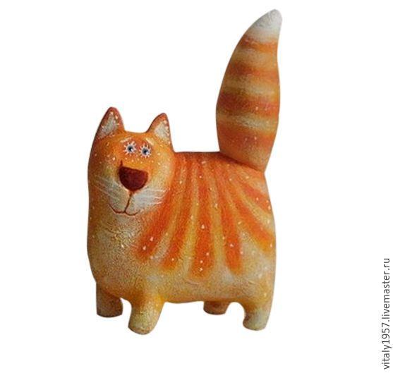 Купить Кот Рыжий. Деревянная игрушка. Ручная роспись - рыжий кот, деревянная игрушка