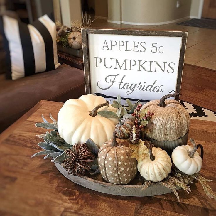 Don't you just love this creative Fall Display? Thanks for including our Wood Tray in your #home Jaci!   #falldecor