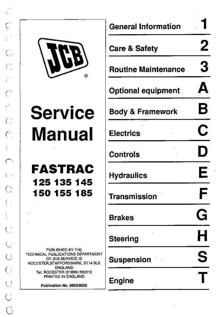 JCB 125, 135, 145, 150,155,185 Fastrac Repair