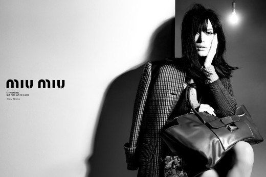 #StacyMartin for #MiuMiu Campaign FW 2014/2015 by Steven Meisel