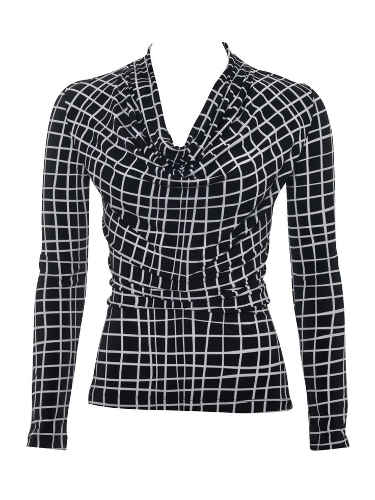 Howard Showers - Aleka Checked Out Long Sleeve Top in Black, $129.00 (http://shop.howardshowers.com.au/aleka-checked-out-long-sleeve-top-in-black/)