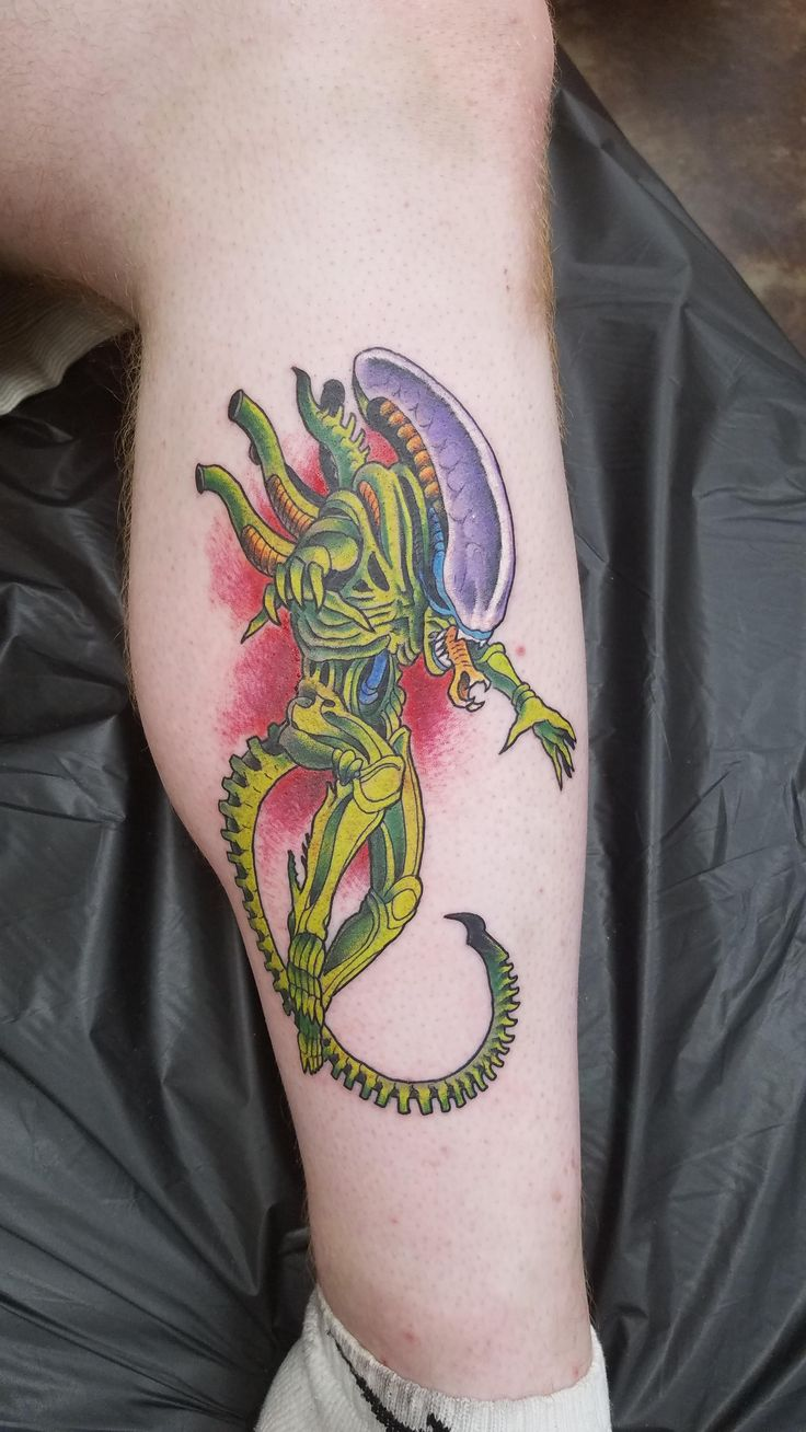 My color Xenomorph by Frank Inglett Old Tyme Tattoo and