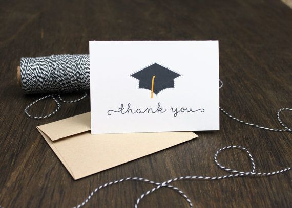 118 best THE GRADUATE images on Pinterest Activities, Candy and - graduation thank you notes