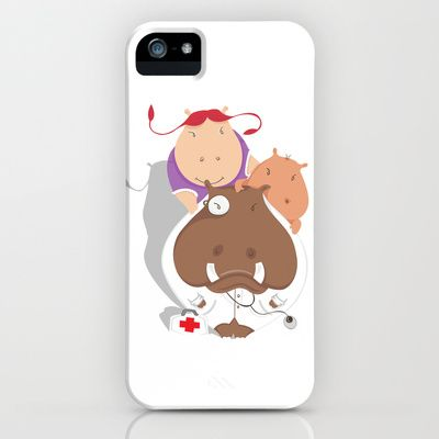 papahippO v.1 - PapaO with Tiffany & Danilo  iPhone & iPod Case by Michael Tjandra - $35.00