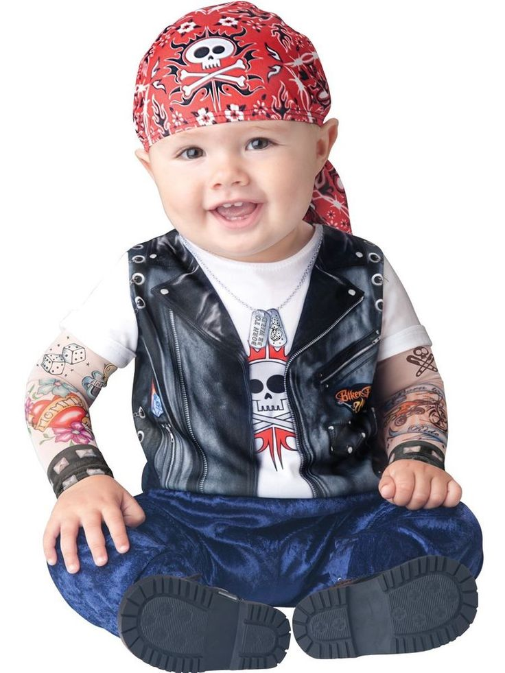 Baby Biker Costume Halloween Fancy Dress BORN TO BE WILD CHILD 12-18 MOS 2T #INCHARACTER #CompleteOutfit