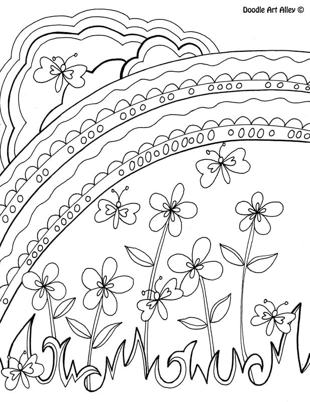 March Coloring Pages Doodle Art Alley Spring Coloring Pages Coloring Pages Flower Coloring Pages