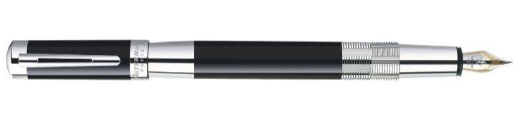 Waterman Elegance Black Silver Trim Medium Fountain Pen