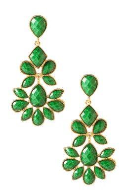 green earings