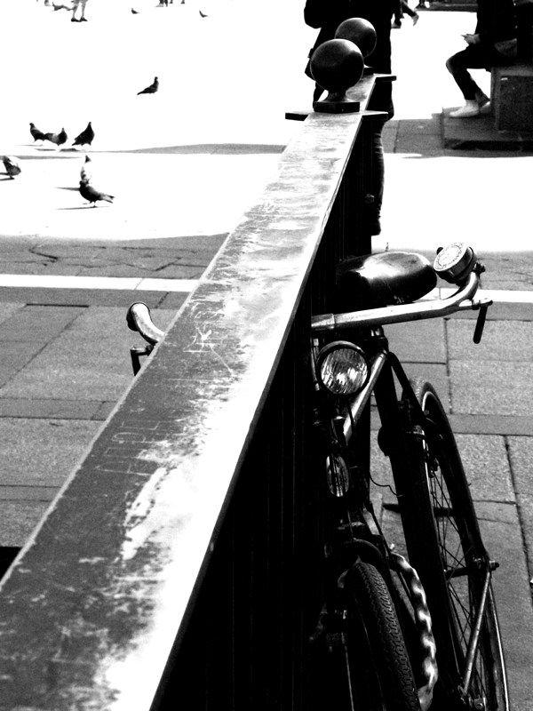 Duomo by Federico Poletti #bike #chase #milan #duomo #blackandwhite #photo