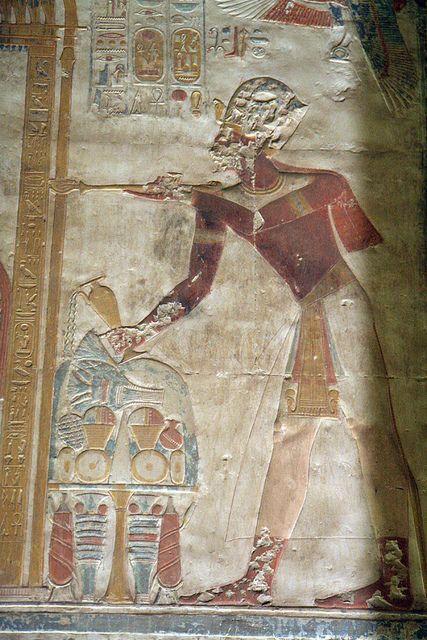 Capilla grande de Osiris en el templo de seti I en Abidos , Egipto . | por Soloegipto