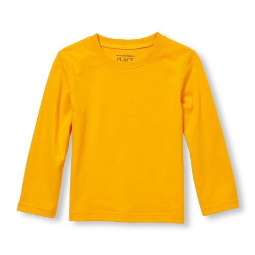 87ca53a80 s Toddler Boys Long Sleeve Solid Tee - Yellow T-Shirt - The Children's  Place | *Flashsale|newarrivals|v1810g* | Yellow long sleeve shirt, Yellow t  shirt, ...