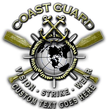 Coast Guard Crossed Oars Military Shirt