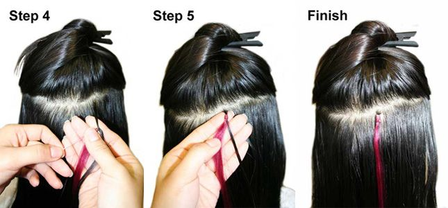 How to put in/apply micro loop hair extensions