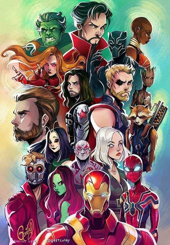 Fan Art einiger Superhelden von Marvel, als Guardi…