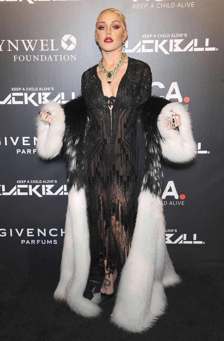 Gorgeous Brooke Candy in her #RobertoCavalli evening dress at 'Keep A Child Alive Black Ball' in New York!