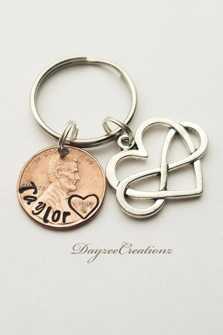 Personalized PENNY Keychain For Her Birthday Gift Best Friend Boyfriend Girlfriend Mom Dad Daughter Sister Bff Bestie In 2019