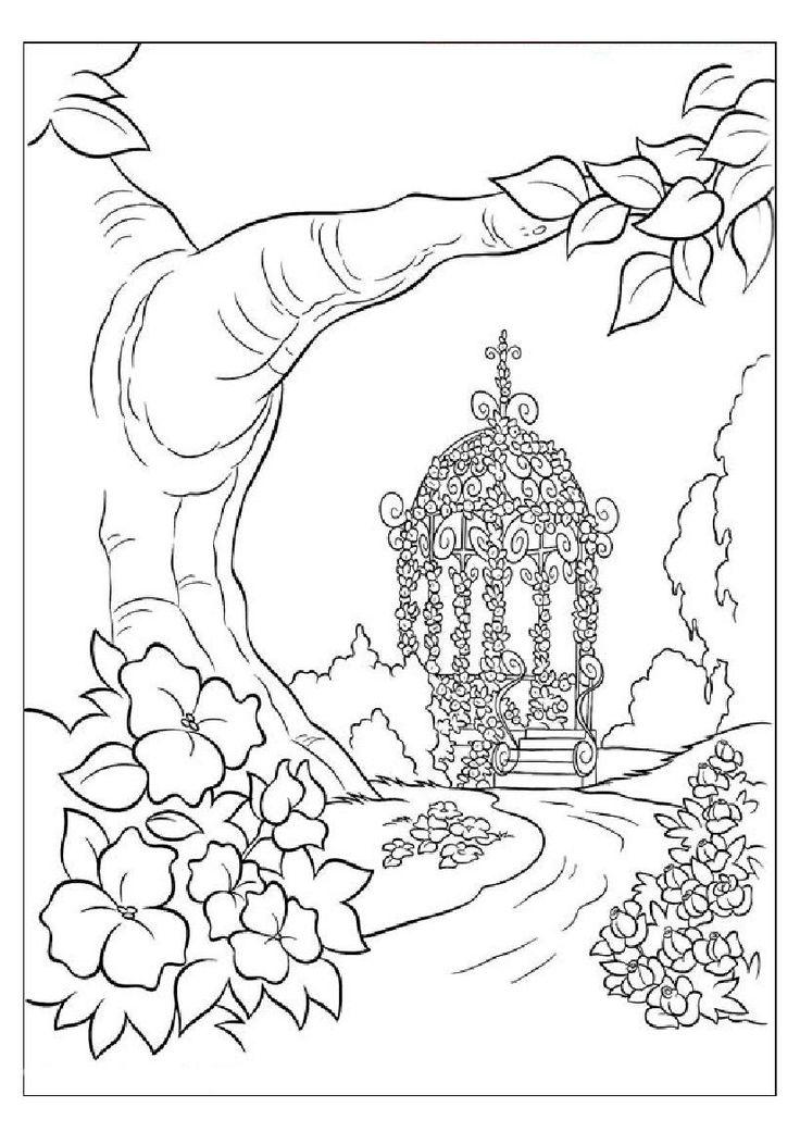 Nature Coloring Sheet Nature Drawing Color For Kids