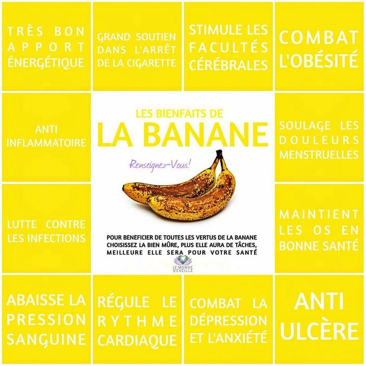 Les Bienfaits de la Banane   BANANE Le Monde s'Eveille Grâce à Nous Tous ♥