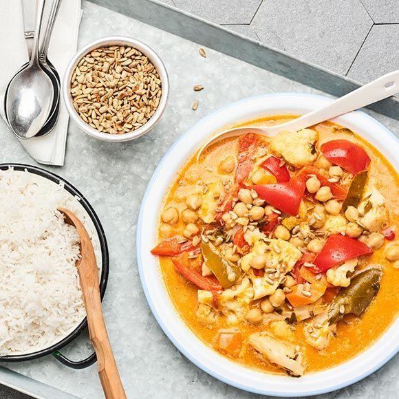 Het röd curry med grönsaker | Recept ICA.se