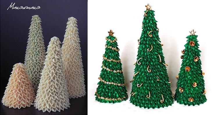 Pasta Christmas tree.