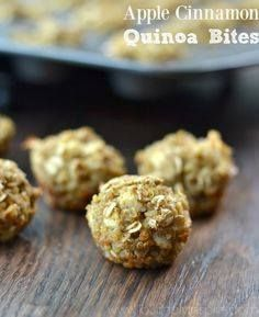 These wonderful litt These wonderful little Apple Cinnamon...  These wonderful litt These wonderful little Apple Cinnamon Quinoa Bites are a fantastic quick and healthy breakfast or snack. Recipe : http://ift.tt/1hGiZgA And @ItsNutella  http://ift.tt/2v8iUYW
