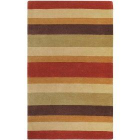 Mystique Large Triped Red Contemporary Rug Size: Scatter / Novelty 2` x 3` $48.00