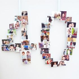 All of me: Craft me Happy!: 40th Birthday Photo Banner Display