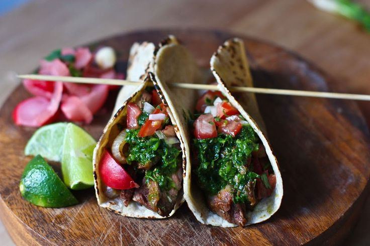 Chimichurri Tacos with Beef