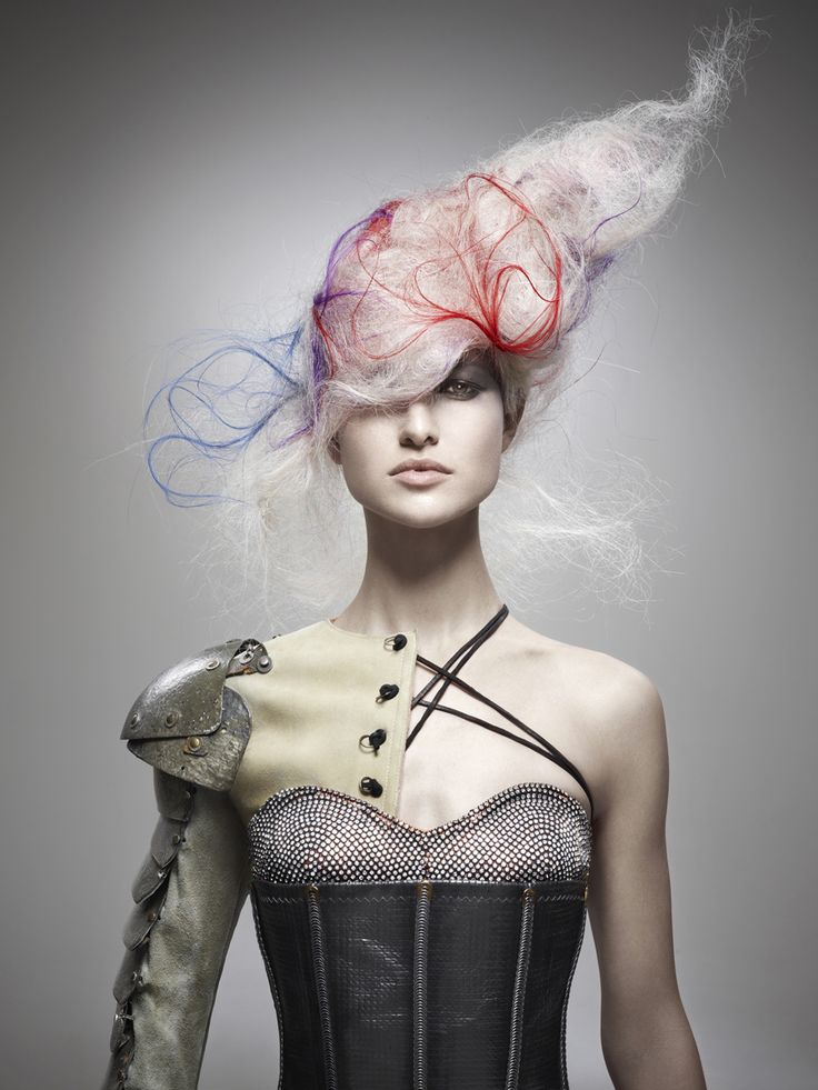 Avant garde hair by Kris Sorbie. Winner 2011 NAHA Master Hairstylist of the Year.