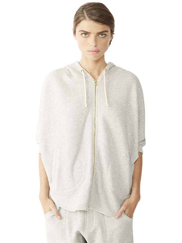 Organic Heavy French Terry Shirttail Cape