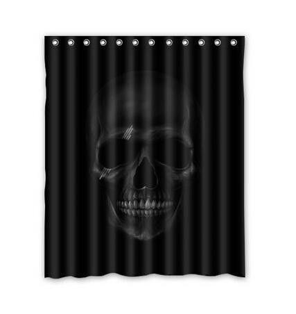 Hot Sale Custom Dark Skull Best Nice Fashion Home Living Waterproof Bathroom Decor Shower Curtain 168x183cm FREE SHIPPING U08-13