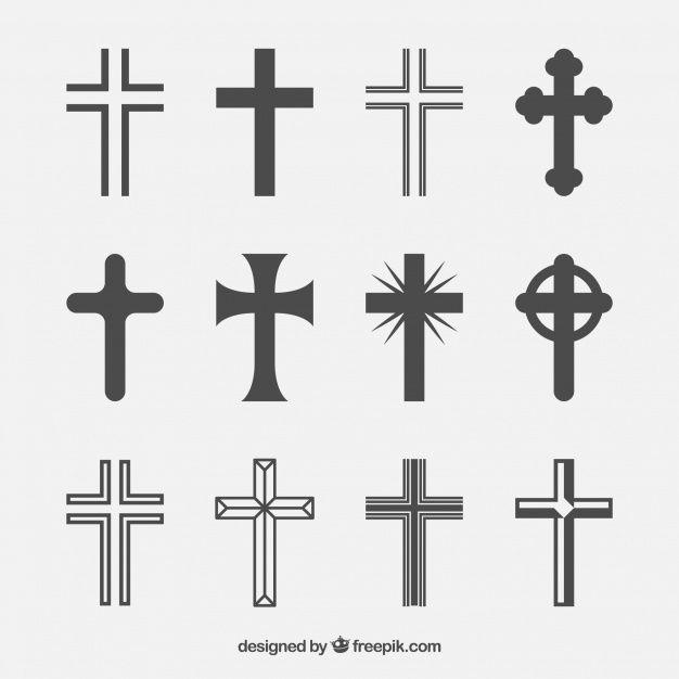 Silhouette Christian Cross Collection Christian Symbols Christian Cross Catholic Cross