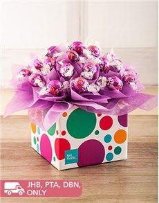 Edible Chocolate Arrangements: Purple Spotted Lindor Truffle Box!