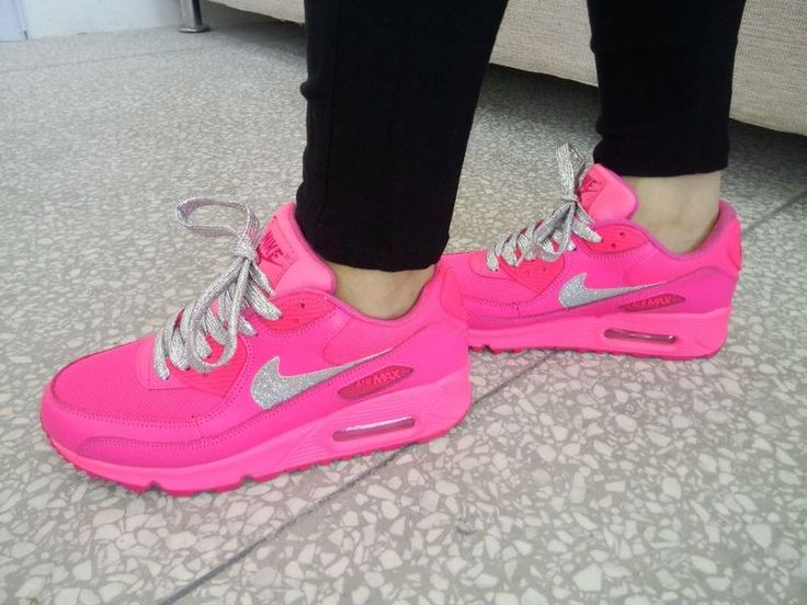 Over Half Off Nike Air Max 90 Womens 2015 Stars Hyper Pink Crystal Diamond