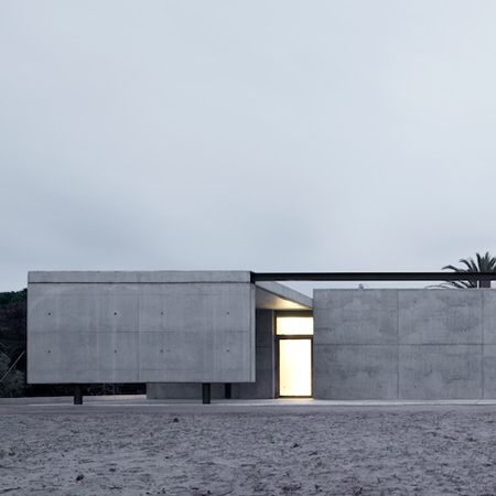 Photographer Filippo Poli has sent us his photographs of a centre for rescued turtles, dolphins and birds in Barcelona by Hidalgo Hartmann Arquitectura. Called CRAM Foundation, the project is situated on a former golf course and makes use of two existing swimming pools plus a former creche building. This refurbished building forms the administrative centre