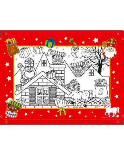 Leuke Sinterklaas kleurplaat voor kinderen.