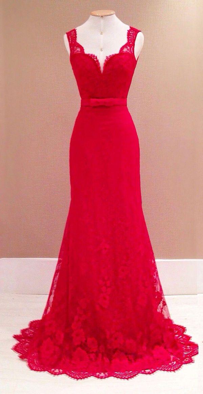 Elegantes Damen Kleid Abendkleid in Rot