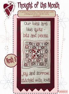 Pattern: Thought Of The Month #5 Stitched With Love By Hugs 'N Kisses (H-27)