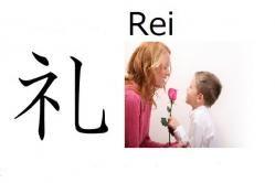 Rei (cortés) Significado: cortés, amable, caballeroso (como adjetivo) - Saludar, cortejar (como verbo) Significado abstracto: Que tendrá buenos modales Lecturas: Rei, Ri, Re, Akira Nombre de chico o chica