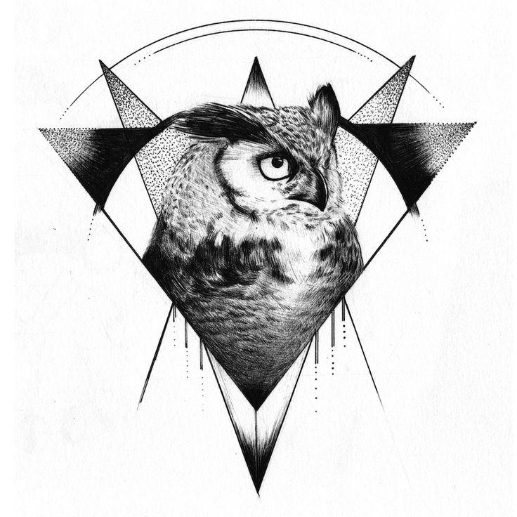 geometric owl logo - Google Search