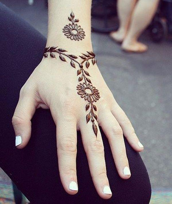 Simple Henna Tattoos: 25 Simple Cute Small Henna Design Ideas