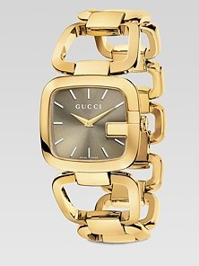 Gucci - Goldtone Physical Vapor Deposition Watch (not a big fan of watches but I ❤ this one!!)