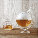Glass Globe Whisky Decanter DCGL The Glass Globe Whisky Decanter is a highly unusual and innovative decanter that will certainly provide a talking point. Crafted from hand blown borosilicate glass in the form of a globe, the decanter http://www.MightGet.com/january-2017-11/unbranded-glass-globe-whisky-decanter-dcgl.asp